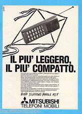 QUATTROR991-PUBBLICITA'/ADVERTISING-1991- MITSUBISHI TELEFONI MOBILI (versione B