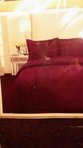3-Piece Quilt Set Bedspread Coverlet Purple KING SIZE Bed Cover.