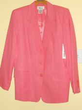 NWT Worthington Pink Rayon Linen Blend Jacket Blazer Casual Business Sz 14