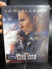 Captain America Civil War Blufans Rogers Double Lenticular 3D Blu-Ray Steelbook