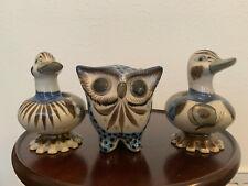 Ken Edwards KE Mexico Pottery Art. LOT of 5 items. Fish. 2 Ducks. Owl. Vase.