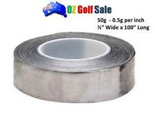 "1/2""  x 100"" SELF ADHESIVE LEAD FOIL TAPE ROLL - ADD GOLF CLUB WEIGHT - 0.5g /1"""