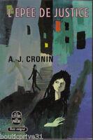 Livre de poche d'occasion de 1971 - L'épée de Justice - Cronin