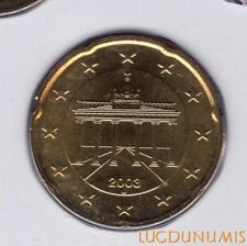 Allemagne 2003 20 centimes J Hambourg BU FDC provenant coffret 180000 exemplaire