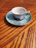 Vintage Niagara Falls Demitasse Tea Cup & Saucer Canada Souvenir Gold Trim Japan