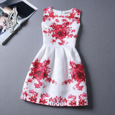Nice Women Summer Fashion Casual Sleeveless Floral Party Cocktail Dress-2a
