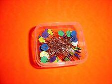 "100 Dritz Multi Colored Flower Head Pins - 1 3/4"" Long Shaft - 2 1/8"" O.A.L."