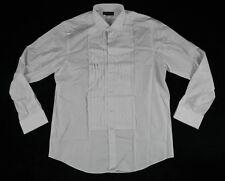 Ralph Lauren Black Label Pleated White Dress Shirt Sz 17 BNWT 100% Authentic