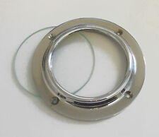 "Canal boat 2.3/4"" chromed brass porthole complete with clear glass  CP003G"