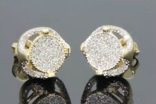 1.60 CT Round Cut D/VVS1 Diamonds 14K Yellow Gold Over Stud Screw Back Earrings