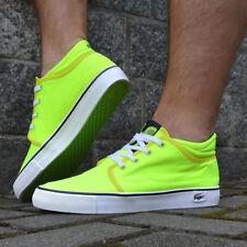 Lacoste VAULTSTAR CHUKKA NN SCM Canvas Sneaker Skater Schuhe Shoe neon grün weiß