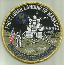 """FIRST LUNAR LANDING OF MANKIND 1969 PATCH 4"""" NASA ASTRONAUT SPACEFLIGHT MOON USA"""