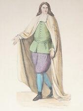 Chevalier Ordre Alcantara COSTUME GRAVURE COULEURS XIXe siecle