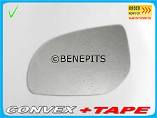 Left Side Convex Stick On Wing Mirror Glass HYUNDAI i30 2007-2011 +TAPE #329