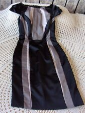 Cocktail party dress by M&S WOMAN Size 8 - 10 Black with multi