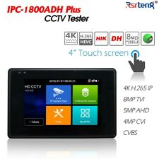 4 Inch CCTV CVI TVI AHD CVBS IP 5in1 Camera Tester H.265 4k Poe Ipc-1800adh Plus