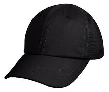 tactical black hat baseball cap ballcap mesh back rothco 99552