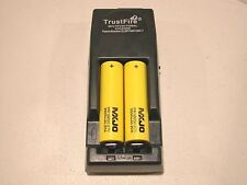 2 MXJO IMR 18650 BATTERY 3.7v 3500mAh 20A w/ TRUSTFIRE TR-001 CHARGER