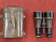 World war One binoculars in original leather case