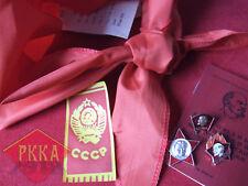 6 in1 Set Oktobrist Pionier Komsomol Abzeichen Halstuch Ausweis UdSSR Lenin СССР