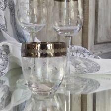 LENE BJERRE Wasserglas WALDORF COLL. Mit echt Platinrand Maße: H 9 cm / ø 7,5 cm
