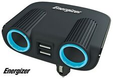 Energizer Twin Socket Adaptor & Twin USB - 12V