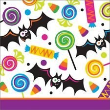 Gone Batty 16 Ct Beverage Napkins Halloween Party Bat Candy