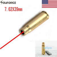 US Tactical Red Dot Laser Brass Boresight CAL Cartridge /&Batteries 9MM//.45//.223