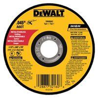 "DEWALT DW8062 4-1/2"" x .045 x 7/8"" Type 1 Metal Thin Cut-Off Wheel"