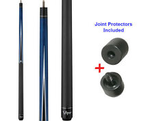 Viper Diamond 50-0910 Blue Stain Pool Cue Stick 18-21 oz & Joint Protectors