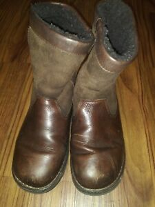 NICE! Kid's Unisex Brown Leather UGG Boots size 4