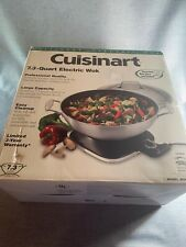 Cuisinart WOK-730 7.3 Quart Capacity Electric Wok, Stainless Steel New In Box