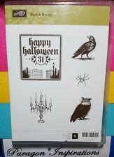 Stampin Up Dark & Dreary Happy Halloween Raven Spider Owl Candelabra