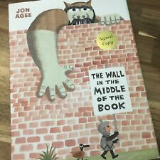 The Wall in the Middle of the Book by Jon Agee New Signed Copy Hardcover