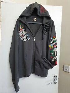 Ed Hardy Full Zip Hoodie Size Xl Mans