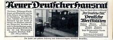 Deutsche Werkstätten Hellerau HAUSRAT Historische Annonce 1913