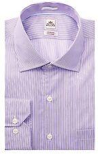 PETER MILLAR Nanoluxe L/S Striped Dress Shirt in Lilac Sz.15.5L-Long  NWT $148