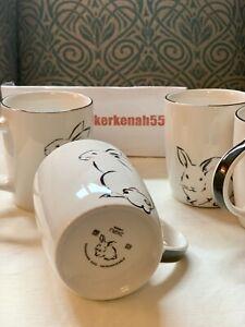 Next Set of 4 Porcelain Rabbit Mugs Bunny 🐇Goes With Dinner Set