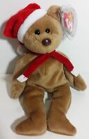 "TY Beanie Babies ""1997 HOLIDAY TEDDY"" Christmas Bear - MWMT! RETIRED! Santa hat!"
