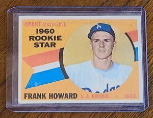 1960 Topps Baseball Card #132 Frank Howard Dodgers ROOKIE STAR NM
