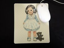 *Party Favor* Korean Afrocat Paper Doll Mate Lg HQ THK Mouse Pad~Off White ALICE