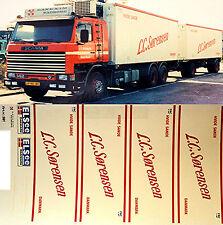 1:87 Truck Sticket, LKW Décalcomanie - Scania - L.C.Sorensen - Danmark (DK)