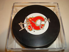 David Jones Signed Calgary Flames Hockey Puck Autographed b