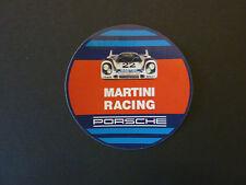 """orig.Für Porsche Aufkleber """"Porsche Martini Racing"""" 60mm Rund Neu  rar selten"""
