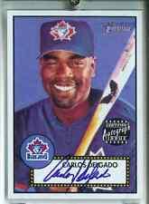 2001 Topps Heritage Blue Autograph Carlos Delgado  /200