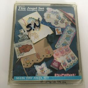 Stampendous Rubber Stamp Tiny Angel Set 12 Angels are Watching Over You 1995