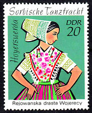 1669 postfrisch DDR GDR Year Jahr 1971 Hoyerswerda Tracht Sorbische Tanztracht