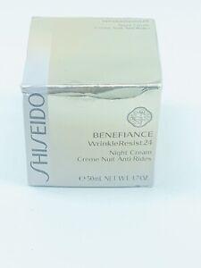 BRAND NEW IN BOX Shiseido Benefiance WrinkleResist24 Night Cream 1.7oz/50ml