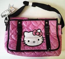 Borsa Tracolla Messenger HELLO KITTY Rosa Fuxia Scuola Borsetta Shopping Bag