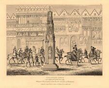 CHEAPSIDE CROSS in 1547. Coronation procession of King Edward VI. London 1834
